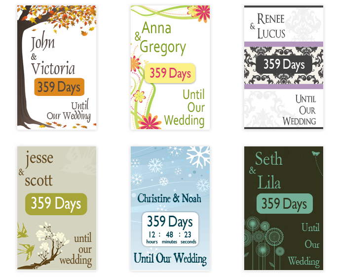 Wedding Coutdown Widget for you Glösite