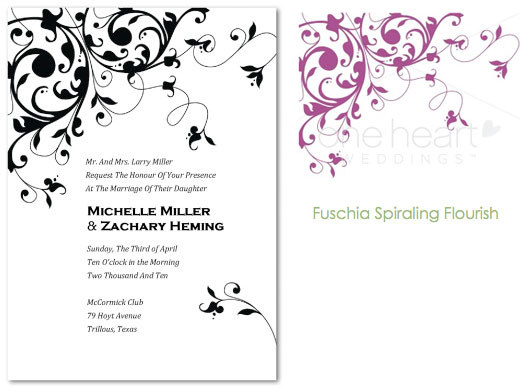 Invitation And Accent Designs From Oneheart Weddings