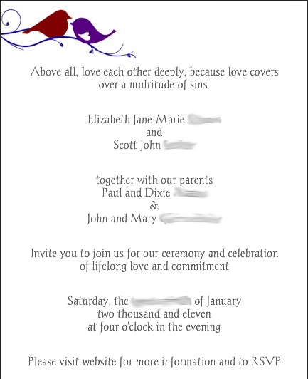 A casual wedding celebration for wine lovers elizabeth and scott glvite email wedding invitation stopboris Choice Image