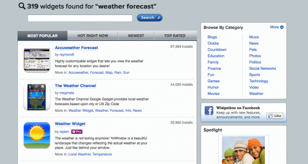 Weather Forecast Widgets