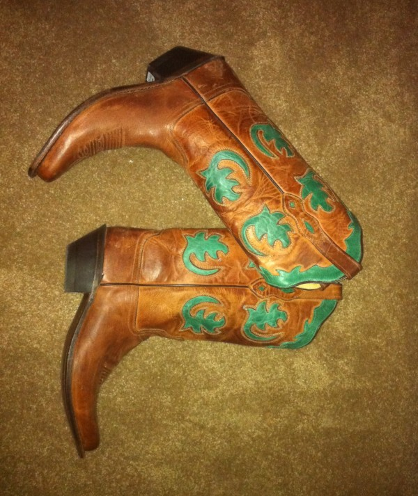 My new cowgirl boots!
