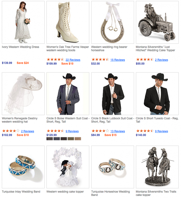 Western Wedding items