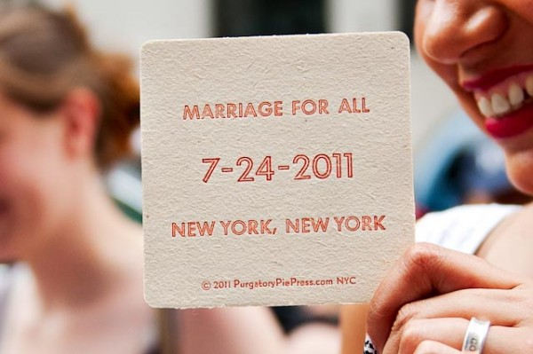 First Day of Gay Marriage in NYC