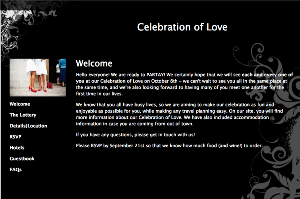 Glosite welcome page