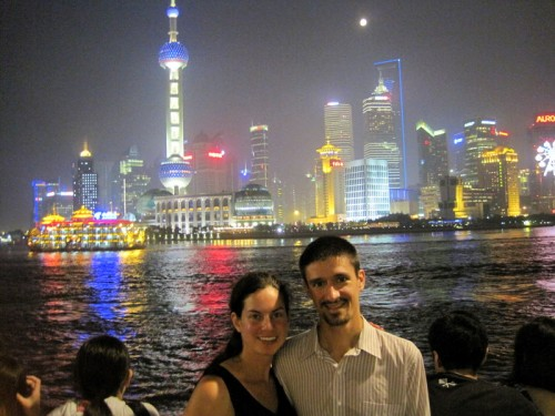 Lillie and Colin in Shanghai
