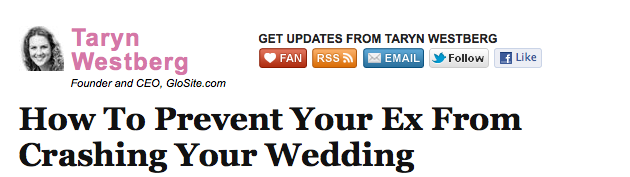 How to Prevent your ex from crashing your wedding
