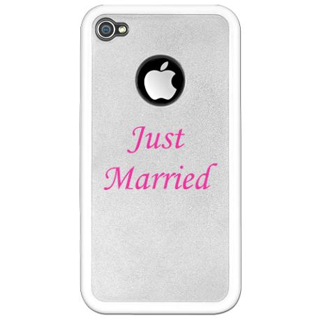 Just Married iPhone case by KustomizedKids on CafePress