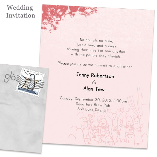 Jenny And Alan S Glosite Online Wedding Invitations Design