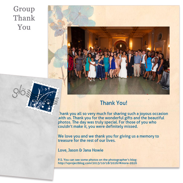 Glo group thank you email