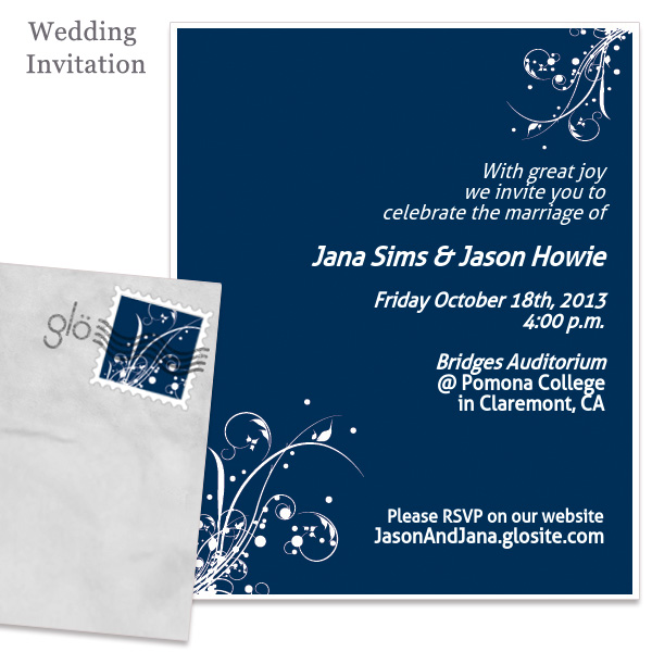 Glovite Wedding invitation
