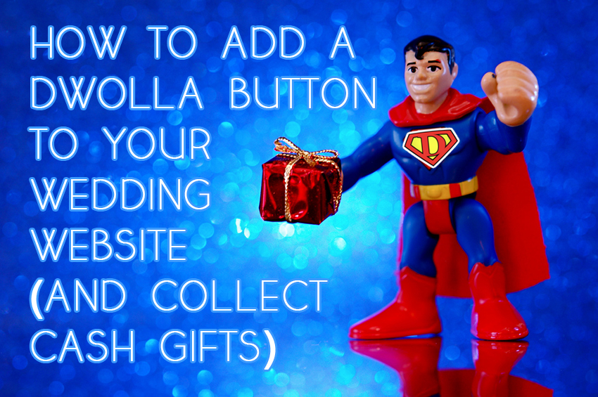 glosite add dwolla button to wedding website