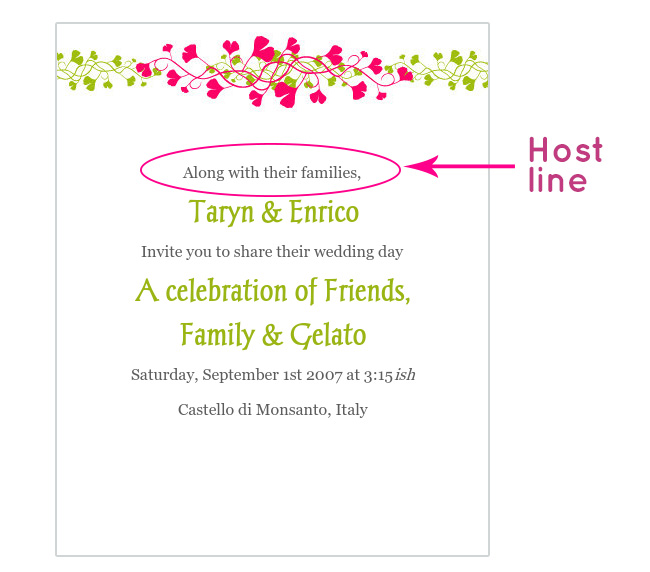 Wedding invitation wording the host line glosite electronic wedding invitation host line stopboris