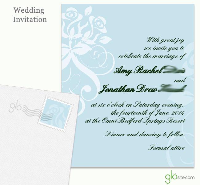 glosite wedding website electronic wedding invitations