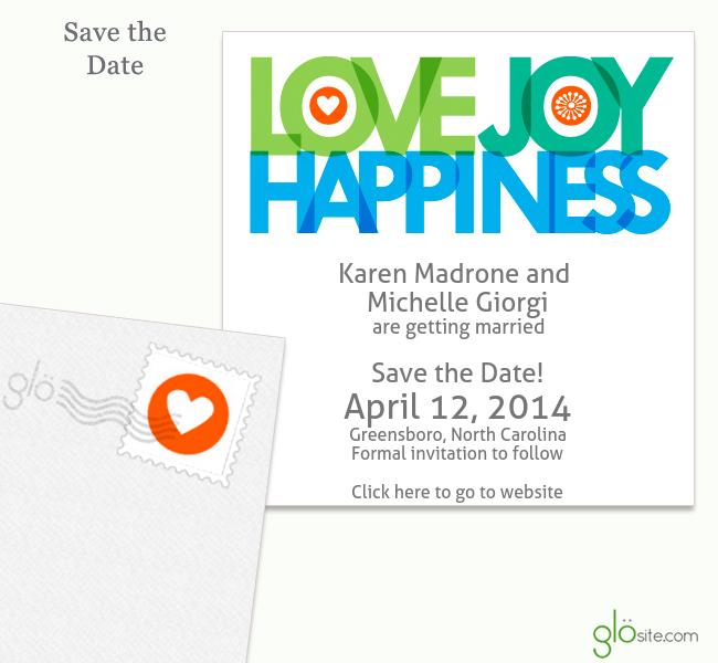 glosite wedding website email wedding invitation online RSVPs