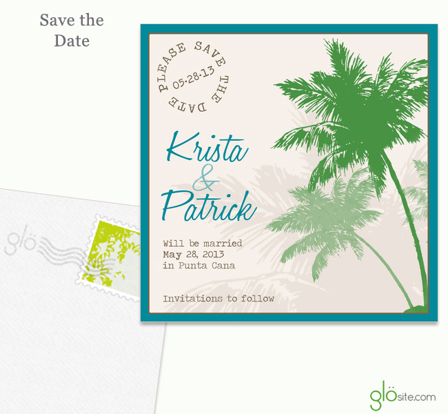 glosite wedding website save the date email