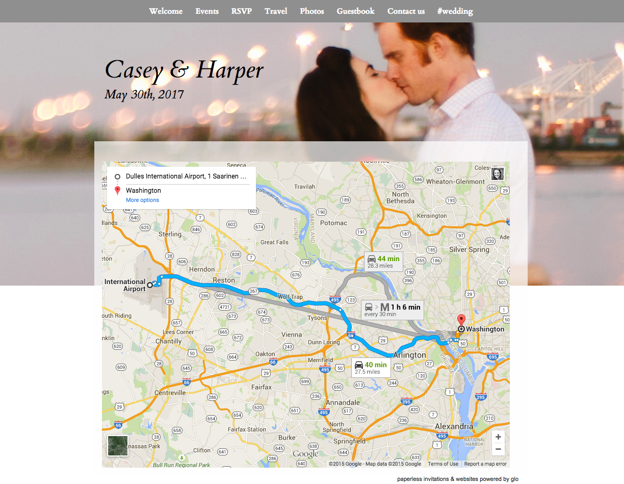 8 view map on glosite wedding website copy