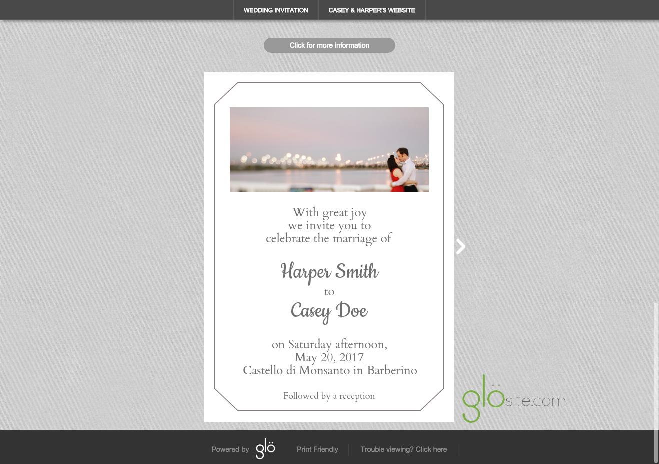 Beautiful Glosite Email Wedding Invitation Background Pattern Copy