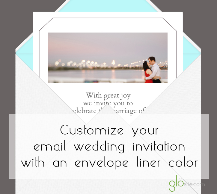 glosite email wedding invitation liner color copy