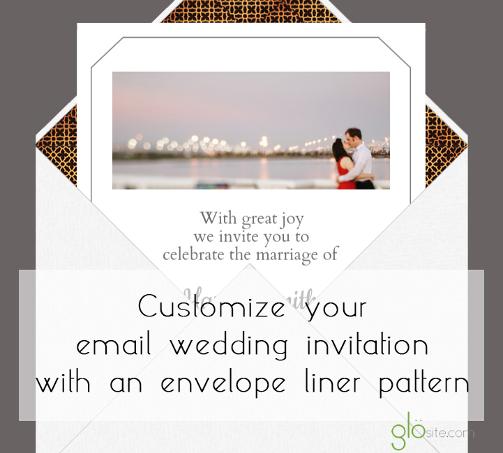 glosite email wedding invitation liner pattern copy