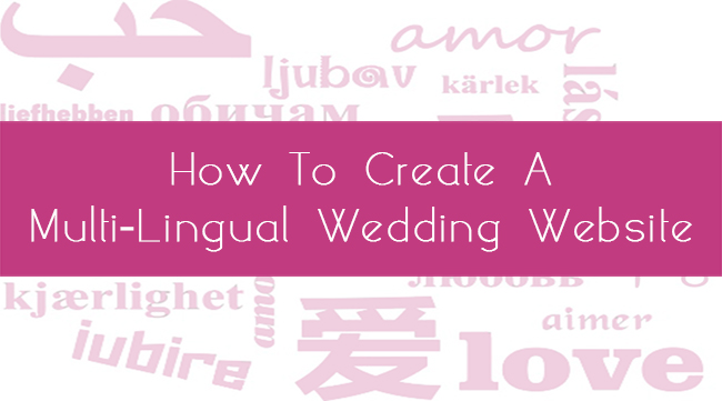 how to create a multi-language wedding website glosite