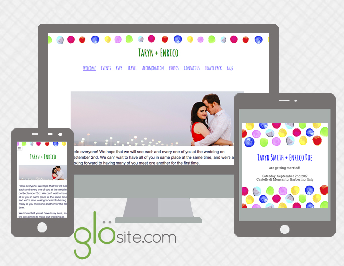 glosite wedding website email wedding invitations