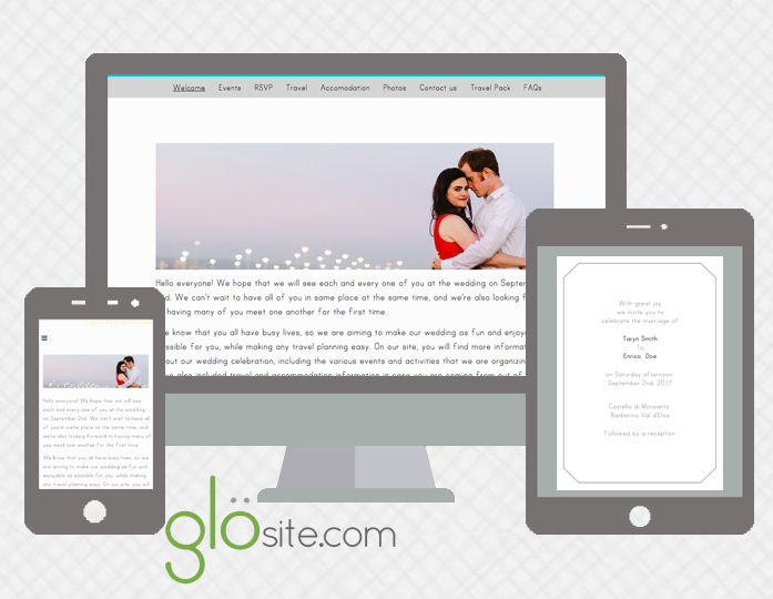 glosite wedding websites email wedding invitations