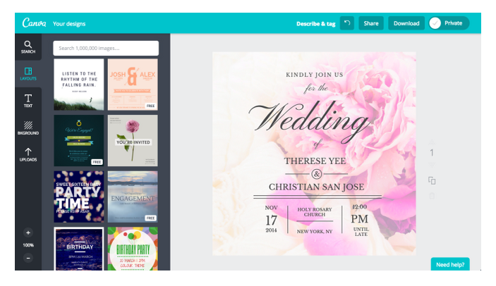 canva email wedding invitation template
