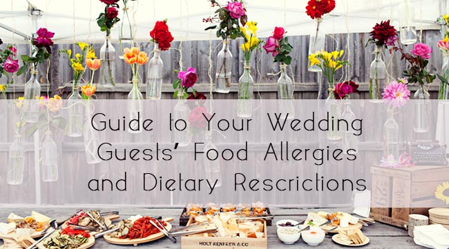 glosite wedding guest food allergies dietary restrictions