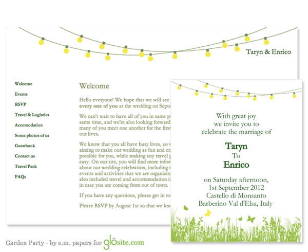 email wedding invitation garden party template