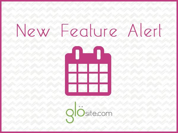 glosite wedding website add to calendar button feature